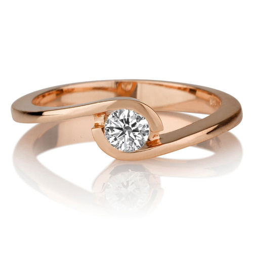 Solitär Diamantring 0.25 Karat (VS2/F) in 750/18K Rosegold