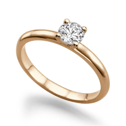 Solitär Diamant Ring 0.25 Karat (VS2/F) in 585/14K Rosegold