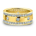 Diamant Brillant Ring Unisex 2.00 Karat Diamanten 585 14K Gold