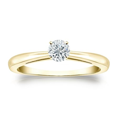 Diamantring Gelbgold 585 14K, 0.25 Ct Solitär Brillant