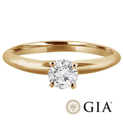 Diamant Ring Gelbgold 585, 0.25 Ct IF Brillant GIA zertifiziert