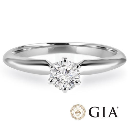 Diamant Ring Weißgold 585, 0.25 Ct. IF Brillant GIA zertifiziert